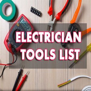 Electrician Tools List