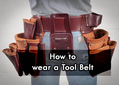 How to wear a tool belt